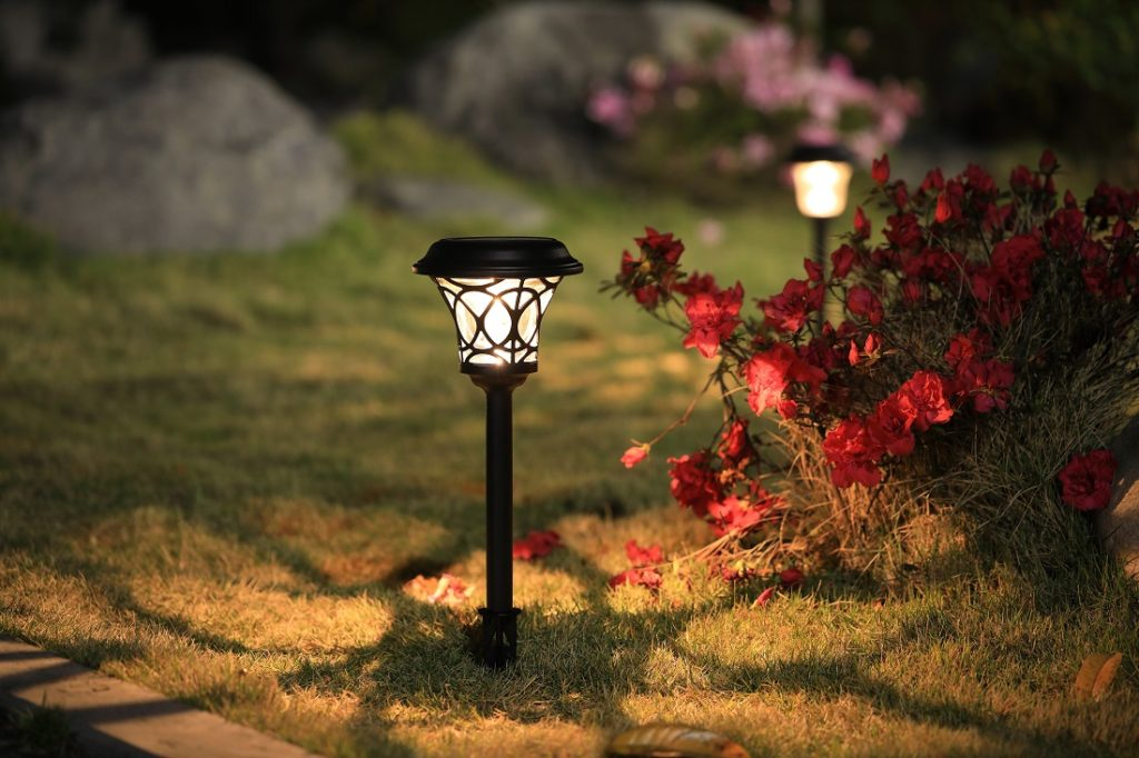 Hampton Bay Black Outdoor Integrated LED Solar Landscape Lighting with Clear Glass Lens (6-Pack)