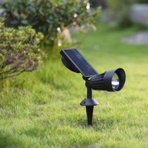 Hosus Solar Black Spot Light 50 lumens wall mount option