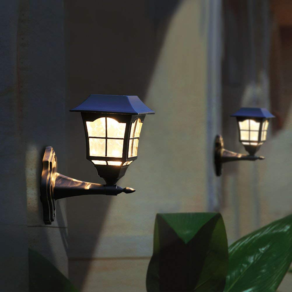 Hosus 6 Lumens Solar Wall Sconce Light Fixture with Wall ...