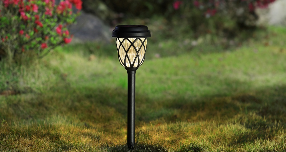 hosus solar outdoor black landscape light