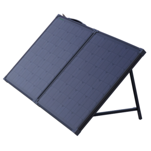 all black foldable solar panel