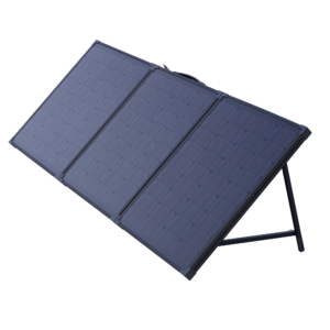 all black foldable solar panel 3 fold