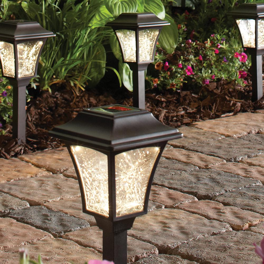 Mediterranean Exterior Of Home With Pathway Fountain: Hosus Solar Mediterranean Bronze LED 3000K Landscape Path