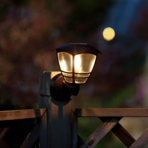 solar led vintage style wall mounting landscape light