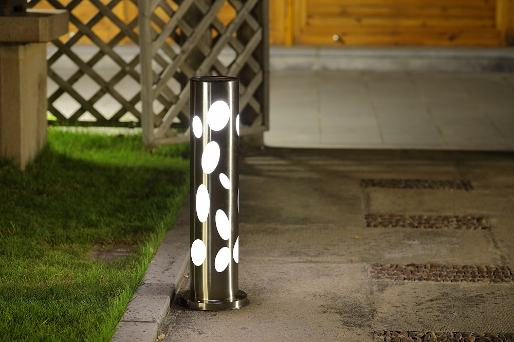 Stainless steel Solar LED Integrated Outdoor Bollard Light