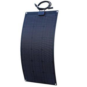 semi-flexible solar panel with mono-crystalline cells