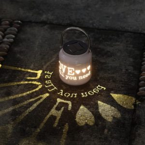 solar powered LED integrated lantern 2