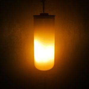 solar flicker flame effect LED bulb