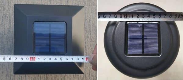 Solar panel size compare