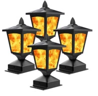 amazon solar flicker flame post cap light 1 196