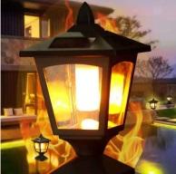 amazon solar flicker flame post cap light 2 196