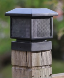 flicker flame post cap light